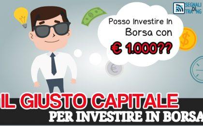 Investire in borsa con € 1000
