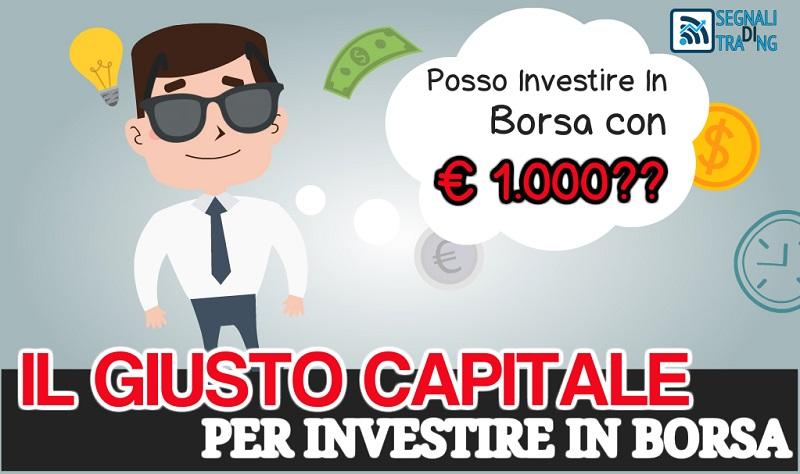 Investire in Borsa con € 1000?