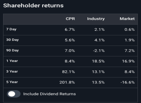 shareholders return